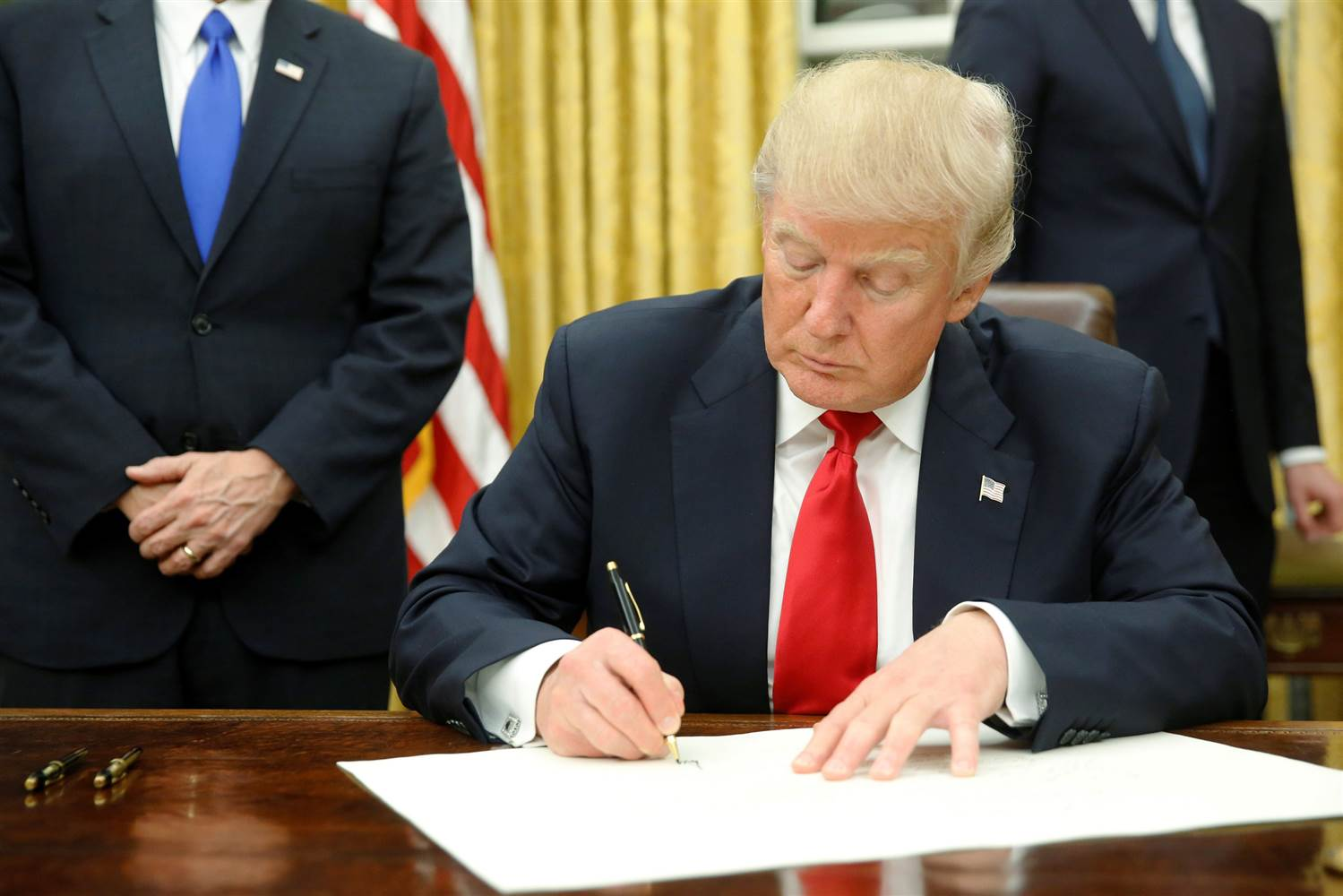 Image result for images of Trump signing executive order