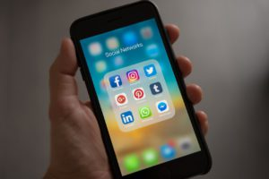 social media on handheld device for agents to use