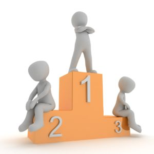 animation of person standing on top of number 1 and two other sitting on 2 and 3