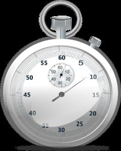 silver stopwatch