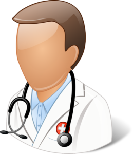 illustration of a faceless doctor